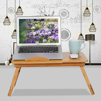 HOT Portable Laptop Lap Stand Desk Table Tray sofa bed Mouse Foldable Adjustable