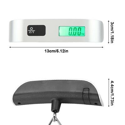 Portable Travel Tare Hanging Digital Suitcase Luggage Weight Scale 50kg 10g 5