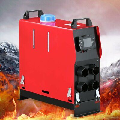 5KW 5000W 12V 4 Holes Diesel Air Heater LCD Remote Silencer For Trucks Boats Car 2