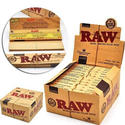 Raw Classic Connoisseur Kingsize Slim Papers + Tips - Smoking Tobacco Rolling 3
