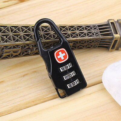 Alloy 3 Dial Safe Number Code Padlock Combination Travel Suitcase Luggage Locks* 8