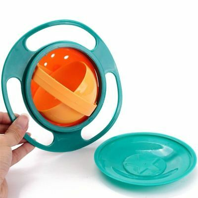 Baby Kids Non Spill Gyro Feeding Toddler Bowl 360° Rotate Avoid Food Spilling 8