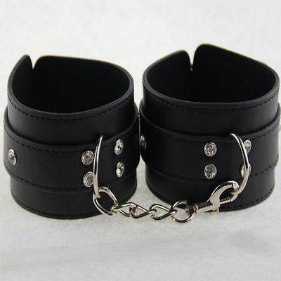 Luxus Leder Handschellen Handfesseln Fußfesseln Halsband Sexspielzeug Adult Neu 8