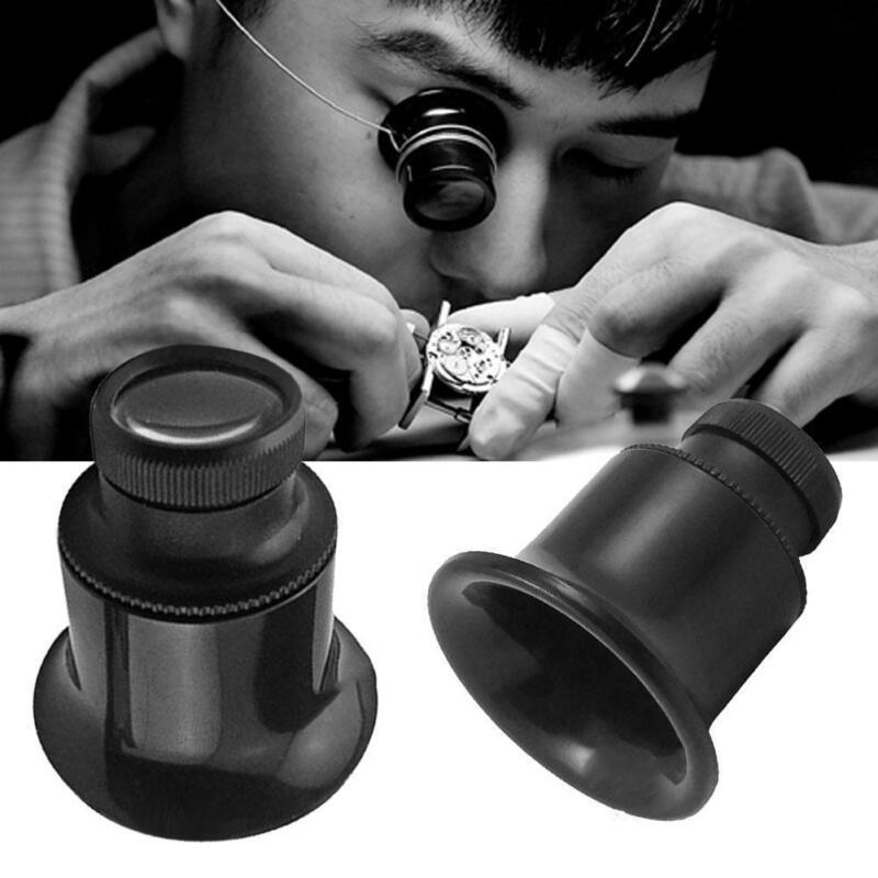 20 fach stark Augenlupe Augenlupe Okular Juwelier Uhrmacherlupe SchwarzD-Gi Q7K5 5