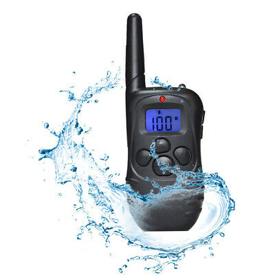 Waterproof 1000 Yard 2 Dog Shock Training Collar Pet Trainer with Remote Battery 4