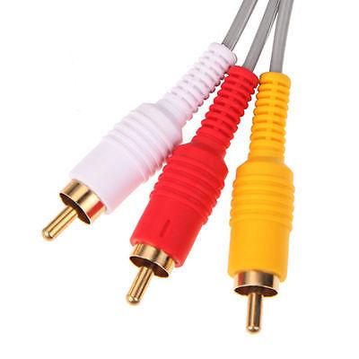 Audio Video AV Composite 3 RCA Cable for Nintendo Wii NEW US SELLER 4