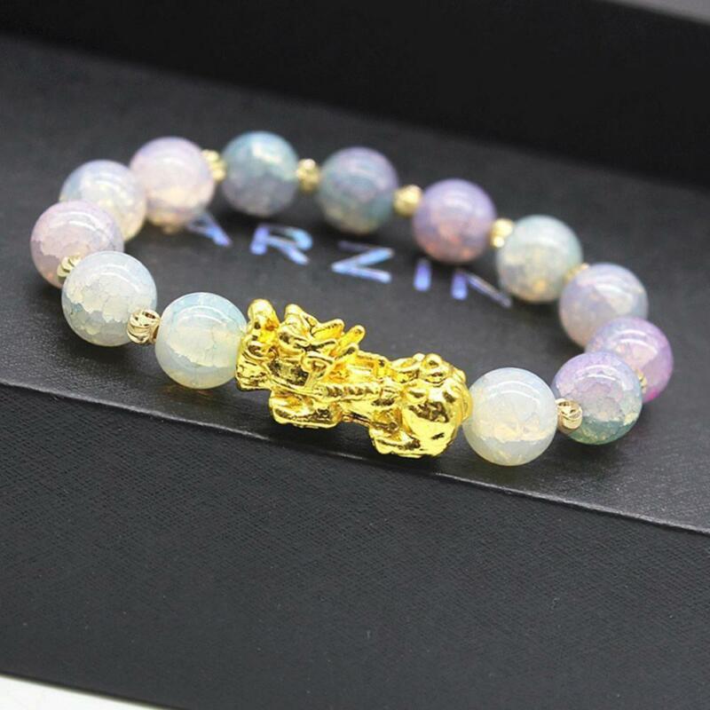 Pixiu Chinese Good Lucky Charm Feng Shui Pi Yao Wealth Bracelets Jade Jewelry 4