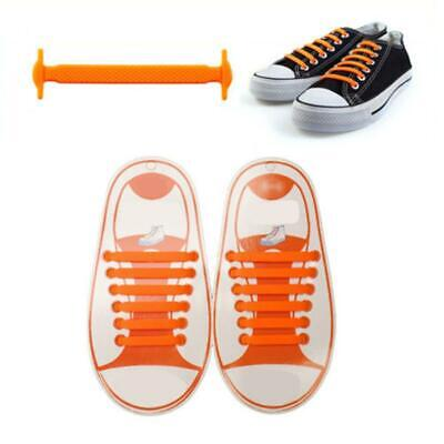 Elastic No Tie Shoelaces Silicone Easy Shoe Laces Trainers Shoes Adult Kids NEW✅ 11