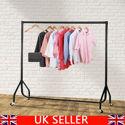 Super Heavy Duty Garment Clothes Rail Metal Garment Hanging Display Stand Rack 2