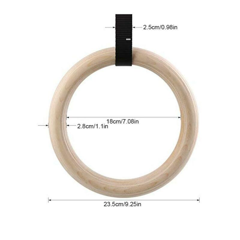 28/32mm Gymnastic Rings Straps Crossfit Fitness Training Exercise Strength Gym 7