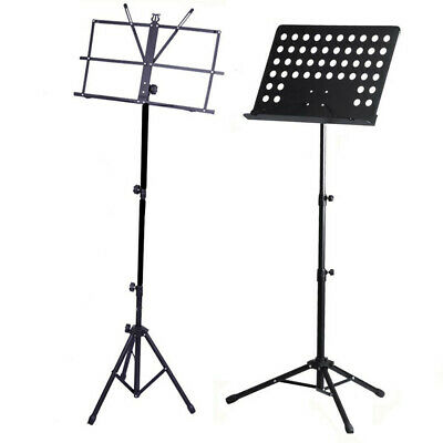 Orchestral Sheet Music Stand Tripod Height Angle Adjustment Portable Folding+Bag 10