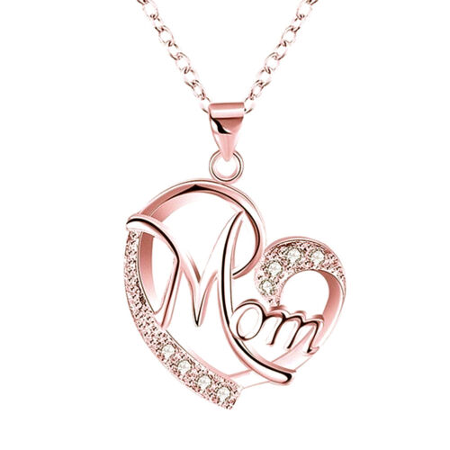 Women Lady Mom Pendant Necklace Gift for Mother Daughter Grandmother Jewelry US 5