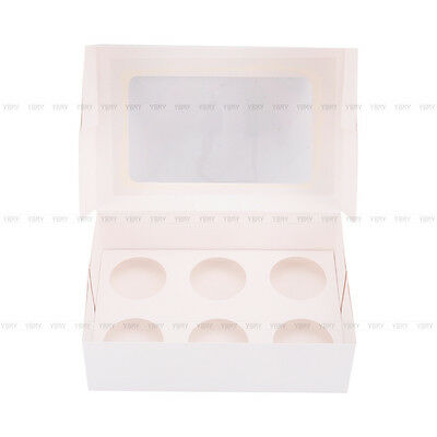 Cupcake Box Cases 1 hole 2 hole 4 hole 6 hole 12 hole 24 hole Window Face Gift 7