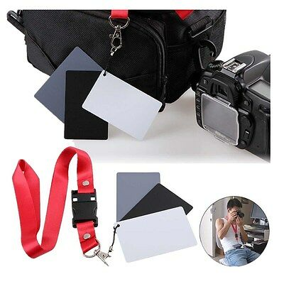 Digital Color Balance 18% Gray Card 3in1 Black Grey White For Photography Studio 4