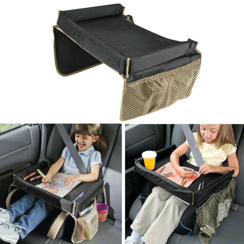 Waterproof Safe Kids Car Seat Table Play Travel Tray Activity Drawing Board Fun 3