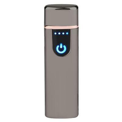 Electric Lighter Usb Rechargable Windproof Flameless Finger Print Gentle Touch 8
