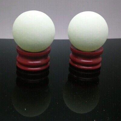 US Glow In The Dark Stone Green Luminous Quartz Crystal Sphere Ball & Stand 35mm 5