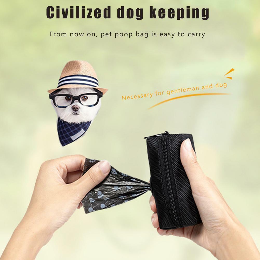 Pet Dispenser Waste Dog Poo Puppy Pick-Up Bags Travel Poop Bag Holder Hook Pouch 11