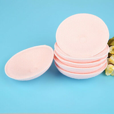 6PCS Feed Washable Reusable Breast Nursing Pads Cotton Absorbent Breastfeeding 10