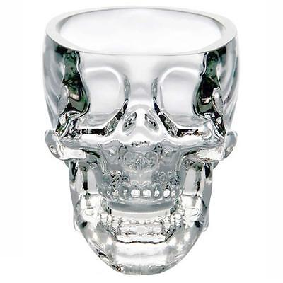 2x New Crystal Skull Head Vodka Whiskey Shot Glass Cup Drinking Ware Home Bar)