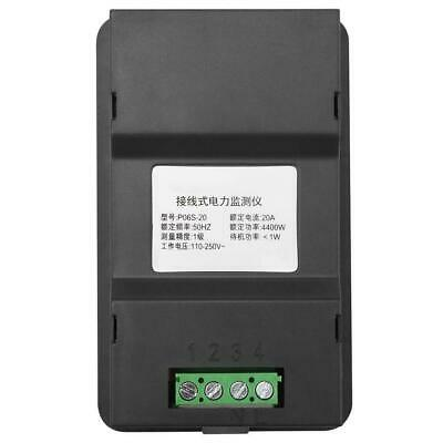 6 in 1 Digital AC Meter Voltage 110V-250V Current 20A Power Factor KWH Frequency 10