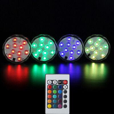 2 En 1 LED Etanche Lamp Lumières Télécommande Distance Plongée Aquarium Tank NF