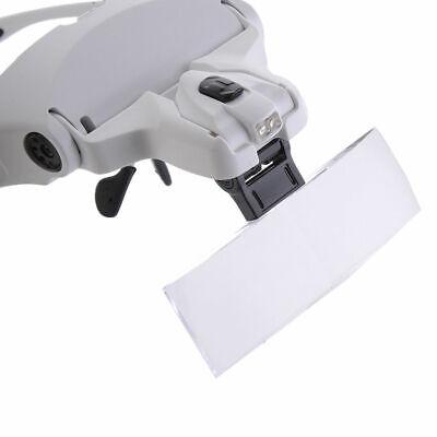 Occhiali con Lente di Ingrandimento 5 Lenti e Luci LED per Lavoro di Precisione 9