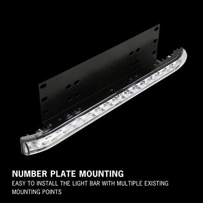 20 inch CREE LED Light Bar With Number Plate Frame For Car SUV Offroad Trucks 11