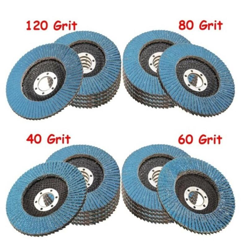 115mm/4.5'' Flap Wheels Grinding Sanding Discs 40/60/80/120 Grit Angle Grinder 2