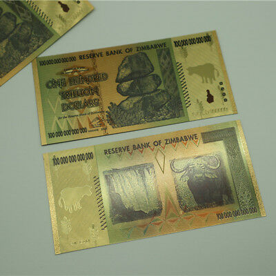 100 Trillion Zimbabwean Dollar Commemorative Banknote Non-currency Collection 9