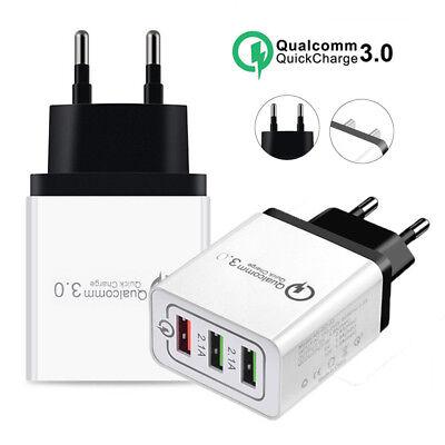 Universal 3 Port Fast Quick Charge QC3.0 USB Hub Wall Charger Adapter EU US Plug 3