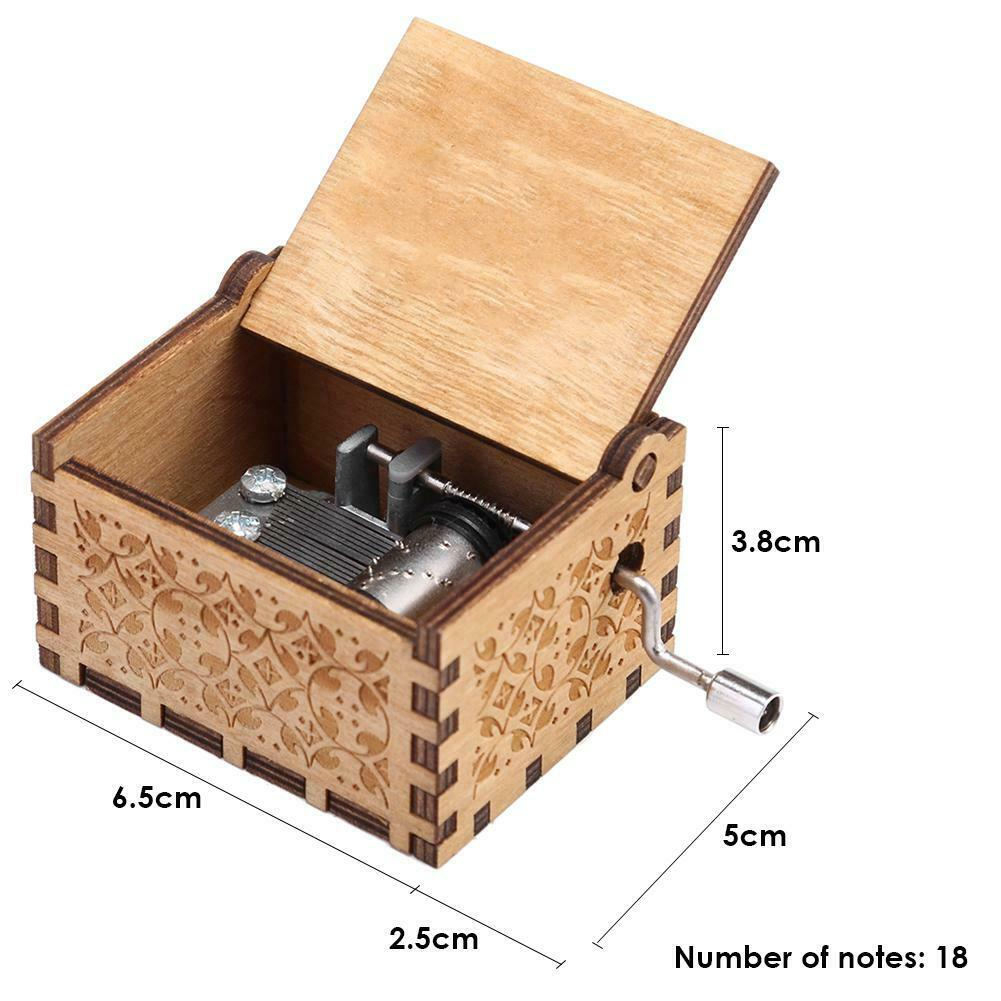 Game of Thrones engraved Handmade Wooden music Box Harry Potter Star Wars Toys 12