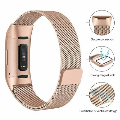 Milanese Stainless Steel Magnetic Watch Wrist Band Strap for Fitbit Charge 3 7