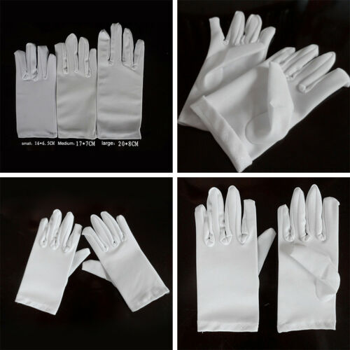 Kid thin white lace gloves girls with performance dancing U9O5 white gloves N5S2