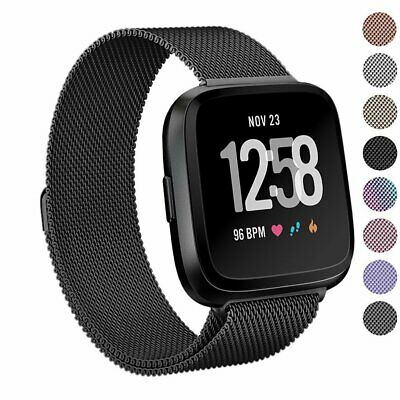 For Fitbit Versa 2/Versa/Versa Lite Milanese Replacement Strap Bands Bracelet UK 2