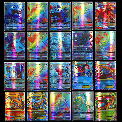 200pcs Pokemon carte GX Toutes MEGA Holo Flash Art Trading Cards Xmas Cadeau 11