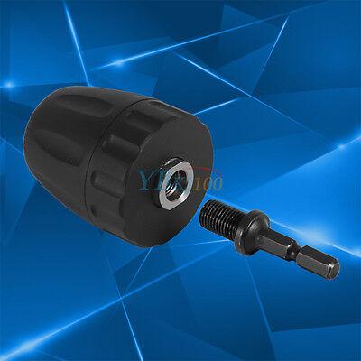 "3//8/"" 24UNF 0.8-10MM Keyless Drill Bit Chuck Clip+1//4/'/' Hex Shank Rod Adapter SSP"