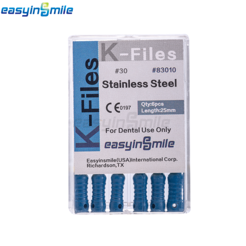 10XDental Endo Root Canal File K-FILES Stainless Steel Hand Use 25mm EASYISNMILE 8