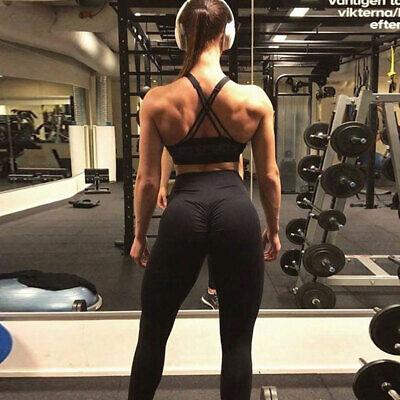 Womens Sports Scrunch Butt Lift Push Up Ladies Running Gym Leggings Yoga Pants 4