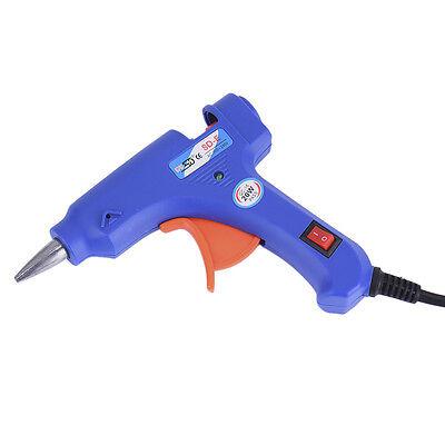 Professional Electric Heating Hot Melt Glue Guns Craft Repair Tool + Glue Sticks 7
