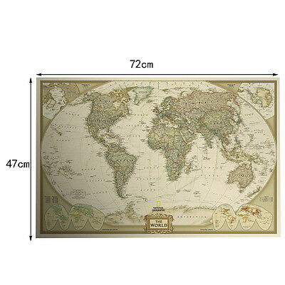 Vintage retro world map antique paper poster wall chart home decor 7 of 8 vintage retro world map antique paper poster wall chart home decor wallpaper new gumiabroncs Choice Image