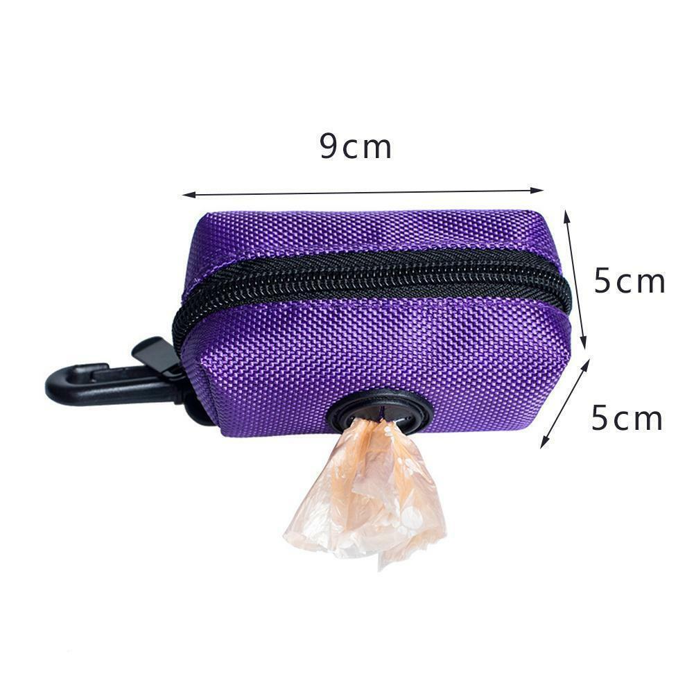 Pet Dispenser Waste Dog Poo Puppy Pick-Up Bags Travel Poop Bag Holder Hook Pouch 7