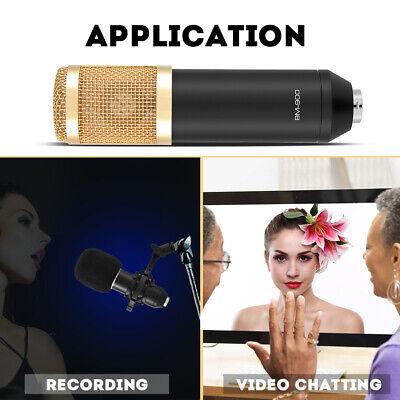 BM800 Condenser Microphone Audio Mic Stand Kit for Studio Recording Broadcasting 12