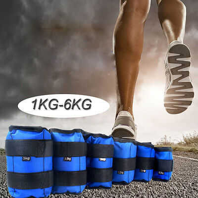 New Ankle Weights Adjust Leg Wrist Strap Running Training Fitness Gym Straps 6KG