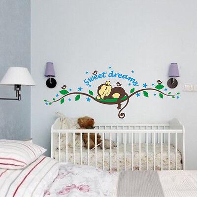 wandtattoo affe wand sticker wandaufkleber wand design dschungel kinderzimmer eur 9 85. Black Bedroom Furniture Sets. Home Design Ideas
