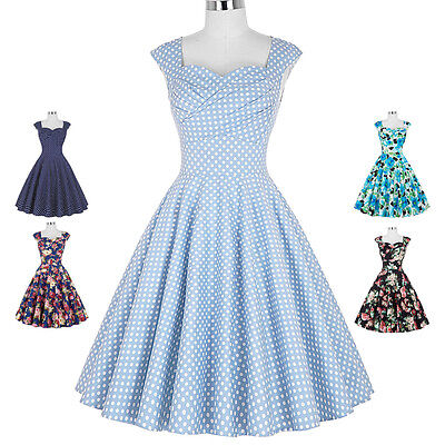Casalinga Swing Stile Pin Up Vintage 50s 60s Retro Da Sera, Da Festa, Da Ballo 5