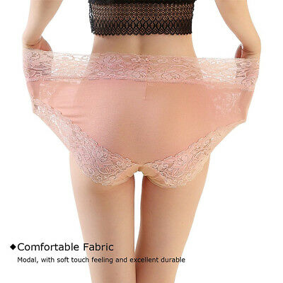 Sexy Women Lace Panties High Waist Plus Size Underwear Culottes Underpants Brief 4