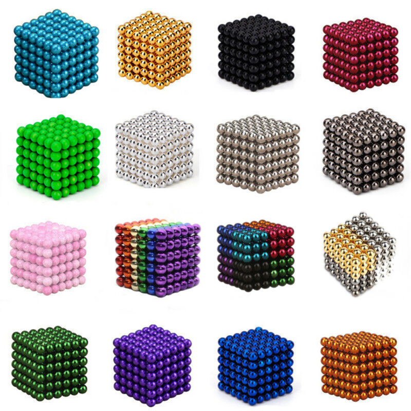 216 3/5mm Magic Magnet Magnetic DIY Balls Sphere Neodymium Cube Luxury Beads 4
