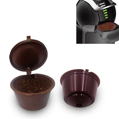 5Pcs Nachfüllbare wiederverwendbare Kaffee Kapseln Pods Für Dolce Gusto Piccolo