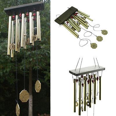 Large Multi-Tubes Windchime Chapel Bells Wind Chimes Door Hanging Home Decor 11